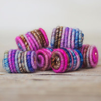 Handmade Fabric Textile Beads for Artisan Jewelry Designs