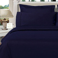 Navy Twin XL Egyptian cotton Solid 3Pieces Alternative Comforter set