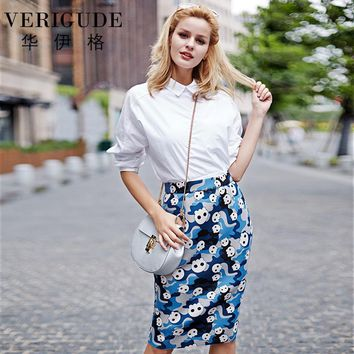 Women Detachable Suspender Skirts High Waist Strap Skulls Print Knee-Length Fashion Style
