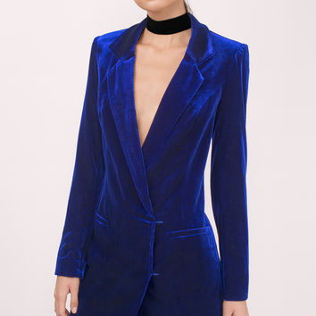 Cara Velvet Blazer Dress
