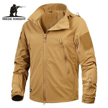 Trendy Winter Jacket Mege Brand Clothing New Autumn Men's  Coat Military Clothing Tactical Outwear US Army Breathable Nylon Light Windbreaker AT_92_12