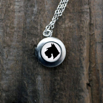 Dog Silhouette Locket