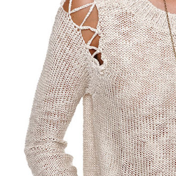LA Hearts Cutout Shoulder Pullover Sweater at PacSun.com