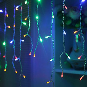 4M 96leds Icicle LED String Light Fairy Outdoor Tree Light Xmas Christmas Wedding Garden Ornaments Party Garland Decoration