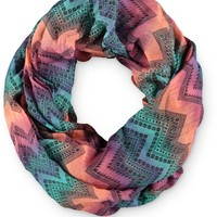 Empyre Chevron Ombre Tribal Infinity Scarf