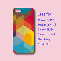 Colorful Block, iphone 4 case, iPhone 5 case,ipod 4 case, ipod 5 case,  samsung S3 case, samsung S4 case, galaxy note 2, blackberry Z10,Q10