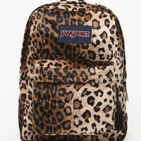 JanSport Leopard Print High Stakes School Backpack - Womens Backpack - Black - One