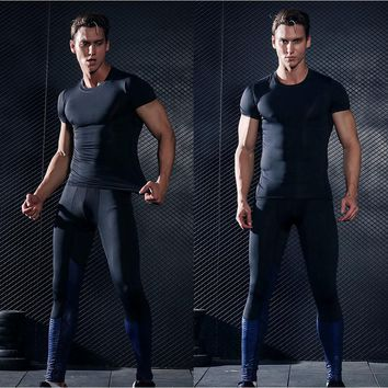 Rashguard Sport Suit Mens Sports Suits MMA Long Sleeve T Shirt Compression Shirts Fitness Clothes MMA Ropa Gym Hombre Demix
