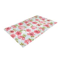 """Heidi Jennings """"Petals Forever"""" Blue Pink Woven Area Rug"""