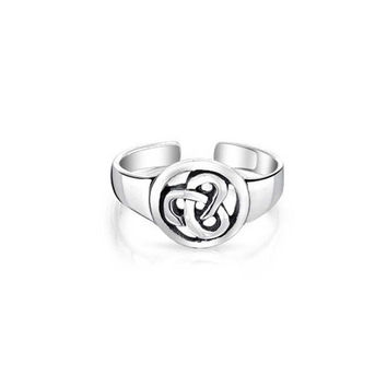 Bling Jewelry Celtic Trinity Knot Midi Ring Adjustable Sterling Silver Toe Rings