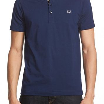 Men's Fred Perry Short Sleeve Henley,