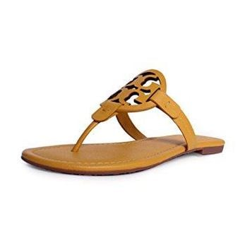 Tory Burch Miller Flip Flop Leather Thong Sandal LOGO