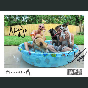 SIGNED Charles and Allie Pool Poster
