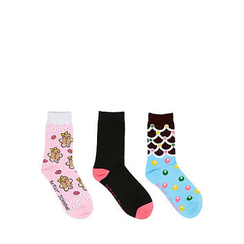 GINGERBREAD GIRL CREW 3 PACK: Betsey Johnson