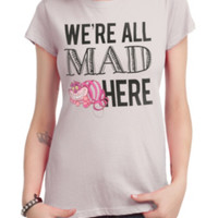 Disney Alice In Wonderland We're All Mad Girls T-Shirt