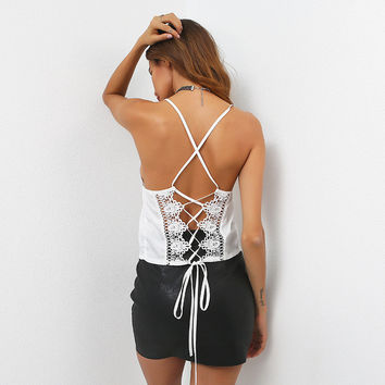 Beach Stylish Comfortable Bralette Hot Summer Sexy Spaghetti Strap Butterfly Backless Slim Vest [11627078735]