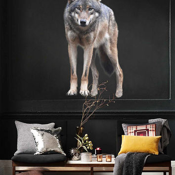 wolf wall Decals wolf wall decor wolf Full Color wall Decals Animals wall Decals Home Decor for kids room cik2225