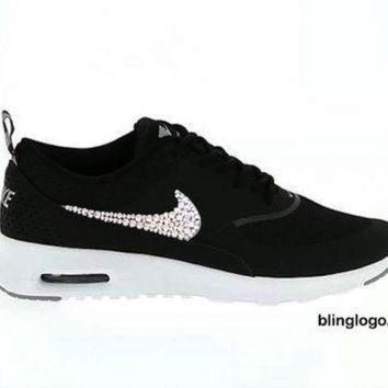 DCK7YE Bling Nike Shoes With Swarovski Elements Crystals