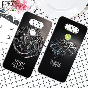 ShuiCaoRen Silicone Case For LG G5 H868 H30 Retra Game of Thrones Cover Phone Coque Ice and Fire Fundas For LG Optimus G6 G5