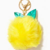 Lemon Drop Pom Pom Keychain | Charming Charlie