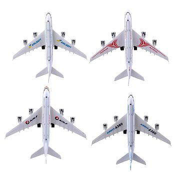 Scale 1:300 Airlines Diecast Airplane Model with Stand Toy Vehicle Airliner Plane Aircraft