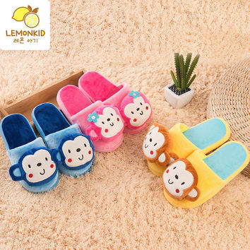 Plushy Slippers Kids Monkey