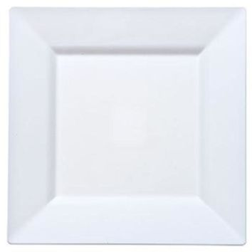 Pearl 8'' Square Plastic Dinner Plates by Lillian - 10 pcs pack - 12 Packs