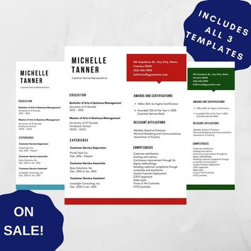 Professional Resume Template 06, CV Template for MS Word, Creative Resume, Modern Resume Design, Resume Instant Download 3 versions SALE!