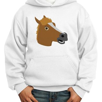 Silly Cartoon Horse Head Youth Hoodie Pullover Sweatshirt by TooLoud