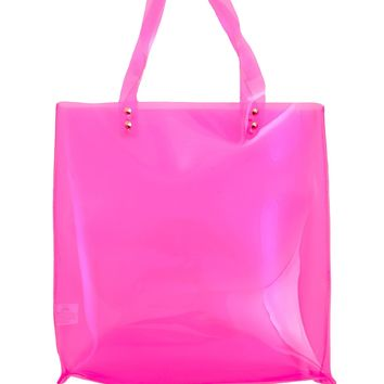 Pink Translucent Tote