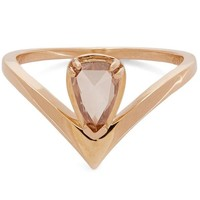 Gold and Champagne Diamond Celestine Orbit Ring