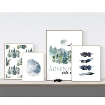 Woodland Adventure Nursery Printable Wall Art, Mix and Match Boys Room Decor, Baby Shower Gift