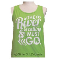 Girlie Girl Originals The River Lime Green Bright Tank Top