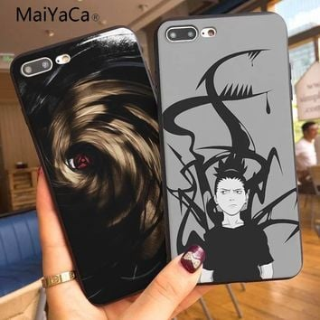 MaiYaCa Naruto character Pattern tpu Soft Phone Accessories Cover Case For iphone 7 7plus X XS XR XSMax 8 8plus 6s 6plus 5 5s