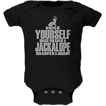 Always Be Yourself Jackalope Black Soft Infant Bodysuit
