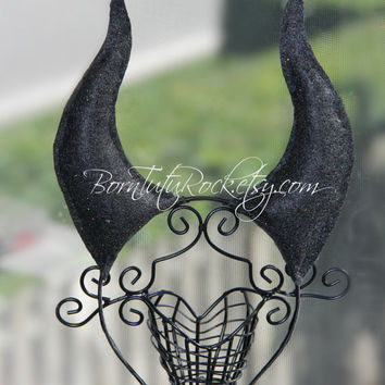 Maleficent Horns Headband // Maleficent Headpiece // Maleficent Headband // Evil Queen headdress // by Born TuTu Roc