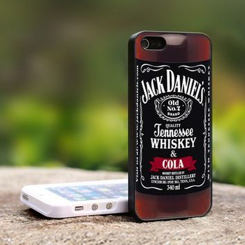 Jack Daniel Whiskey Cola - For iPhone 5 Black Case Cover