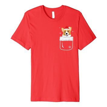 Corgi In Your Front Pocket T-Shirt Funny Christmas Costume