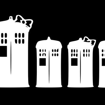 Dr Who Family Telephone Tardis  Vinyl Car/Laptop/Window/Wall Decal