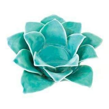 Blue Lotus Tealight Candle Holder - Home Decor/Gifts