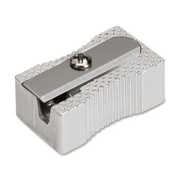 Integra Aluminum Pocket Pencil Sharpener, Steel, Silver - CASE OF 52