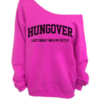 Slouchy Oversized Sweater - Hungover - Hot Pink