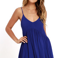 Dream State Royal Blue Babydoll Dress