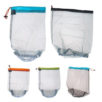 New Arrival Free Shipping Tavel Camping Sports Ultralight Mesh Stuff Sack Drawstring Storage Bag Outdoor Tool H1E1