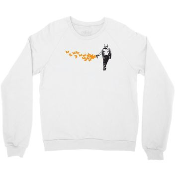 casually butterfly everything Crewneck Sweatshirt