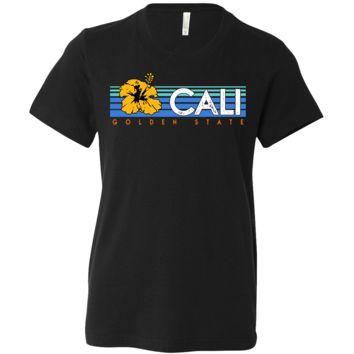Cali Golden State Hibiscus Asst Colors Youth T-Shirt/tee