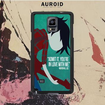 Adventure Time Marshall Lee Samsung Galaxy Note 4 Case Auroid