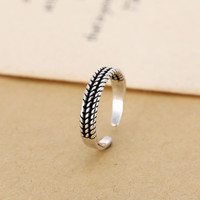 Gift Jewelry New Arrival Shiny 925 Silver Korean Stylish Twisted Accessory Ring [7652914887]