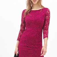 FOREVER 21 Classic Floral Lace Dress