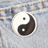Yin Yang 1.25 Inch Pin Back Button Badge